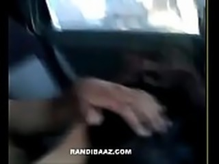 Hot indian teacher fucking driver in car
