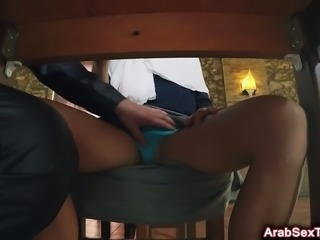 Arab goddess loves to feel her boss' big dick pounding her cunt