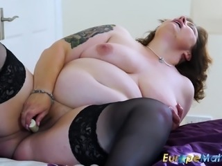 Sexy busty matures from europe are playing with their juicy pussies