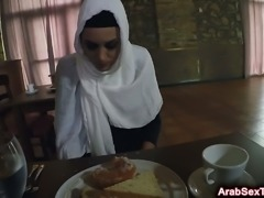 Lovely arab chick got her tight pussy fed by a thick wiener