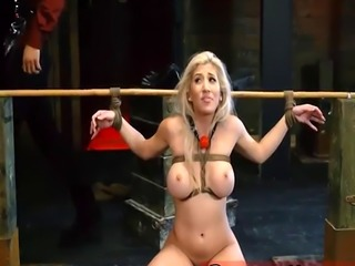 Upper floor new slave and mistress makes fuck Big-breasted ash-blonde