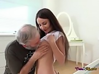Schoolgirl Lana Ray Lets Old Man Pleasure Her
