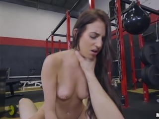 Aubrey is a fit brunette chick who wants to feel a stiff boner