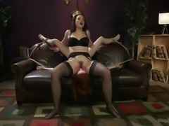Hot brunette dominatrix, Chanel Preston, really knows how to deal with...