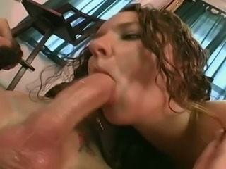 Saucy slut Holly Day loves reverse cowgirl position and she gives great head