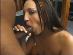 Fuck hungry minx Deja Dare is eager to get her hands on a hard black cock