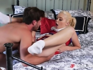Chloe Cherry is a cute cheerleader in need of a fat prick