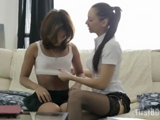 hot private teacher rebecca punishes petite student babe grace