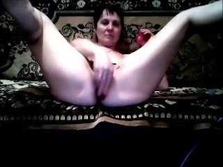 My old girlfriend really enjoys toying her big fat pussy