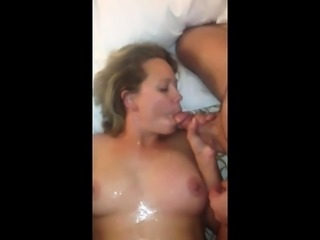 Uk pornstar gangbang and bukkake with donna derriere