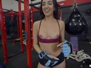 Aubrey needs an extra training session by her personal trainer