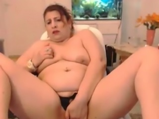 Extremely fat perverted emotional web cam whore with huge melons went solo