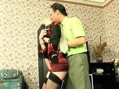 Amateur milf fucked hard in stockings