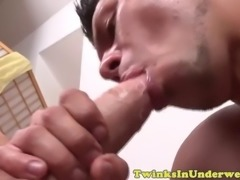 handsome masseur cums in twinks mouth