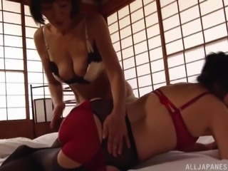 Stunning Japanese women enjoy a great lesbian sex session