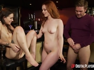 Ella Hughes and Gia Paige hook up with a guy in a bar