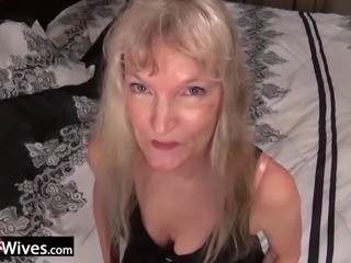 Mature compilation featuring sexy wives from USA using adult toys