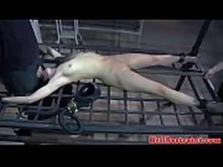 BDSM couple dominating sub with electroplay