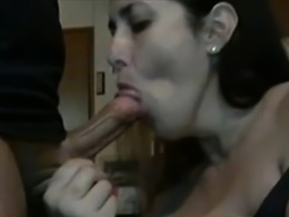 Facial wanting brunette babe facialized after pov blowjob