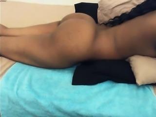Ebony Mom Joyce Dildo solo with ass view