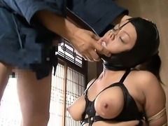 Asian amateur enjoying bdsm treatment