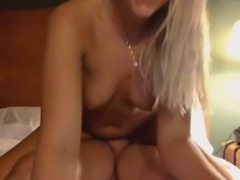 Sizzling happy and charming blonde cowgirl is fond of riding my buddy