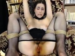 Webcam Girl in Satin Panties Masterbates
