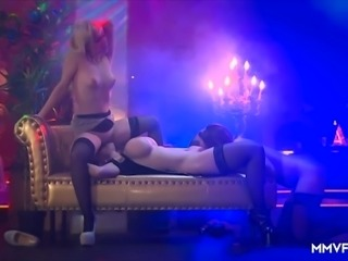 Incredibly hot Melanie Moon has great time with beautiful ladies during...