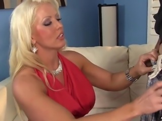 Incredibly whorable blonde housewife gives tremendous blowjob and rimjob