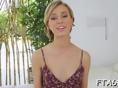 Sweet goes to try-out and rides a monster cock