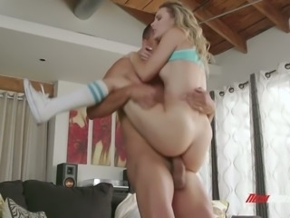 Aubrey Sinclair rides dick like a champ and her yummy butt looks adorable