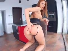 Fervent Romanian redhead Aylin Diamond is made to be a good cock rider