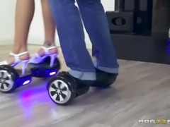 hoverboard sucking and fucking with stacked latina luna star