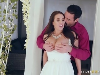 Brunette lady Angela White gets to ride a massive tool