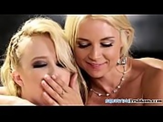 Busty lesbians squirting and licking pussies