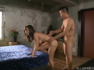 Sonoda Mion bends over for a great fuck with a horny lover
