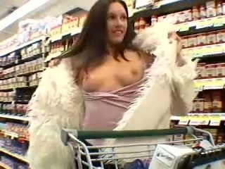 Taylor Rain loves flashing her tits in public and she knows how to deepthroat