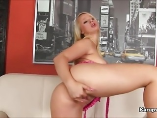Blonde Teen Savannah Hill Dildo Fuck