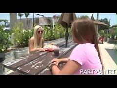 Enjoyable lesbian babes make a film