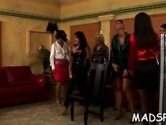 Moist pussy feast at an lesbian sex party