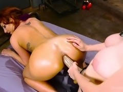 monster dildo and double anal fisting make savannah fox squirt hard