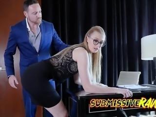 Secretary Alexa Grace Spanked And Fucked