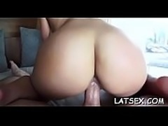 Filling her vagina with a lusty dick