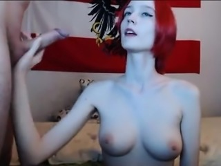Redhead Teen GF Fucks On Webcam