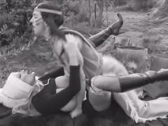 Hardcore sex session with nasty blonde pilgrim Kelly Madison