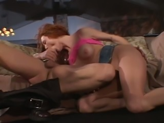 Ginger babe Audrey Hollander loves sucking dick and she loves a good fuck
