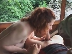 Outdoor hardcore for redhead slut