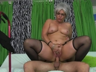 Horny mature slut Kelly Leigh would rather fuck than talk