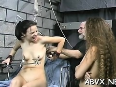 Aged woman bizarre bondage in wicked xxx scenes