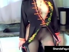 Slutty Dress For Cougar Shanda Fay Gets Her Man To Cumming!
